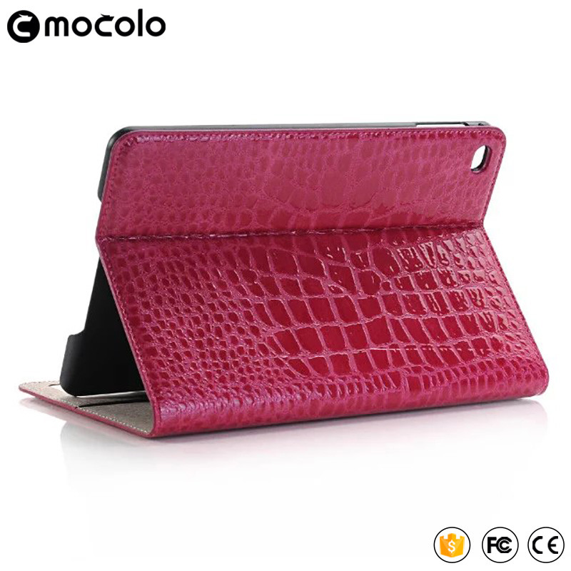 2017 Best Mocolo Grain Table full cover flip pu leather wallet stand tablet case for ipad pro case 9.7