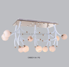 Creative decorative hanging smoke glass balls chandelier bobeches