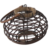 Natural Color Round Willow Lantern with Handle