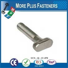 Made in Taiwan Stainless Steel T Bolts Hammer Head T Strap Bolts T Slot Bolt