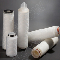 0.22 0.45 um Pleated PES Filter Cartridge For Wine&Beer