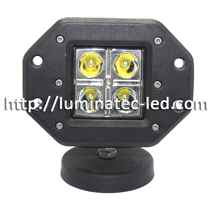Offroad auto parts LTC- 16W cube light flood spot beam led work light for offroad, 4X4, trucks