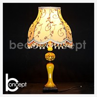 59CM High Quality Yellow Marble Effect Resin Antique Table Lamp