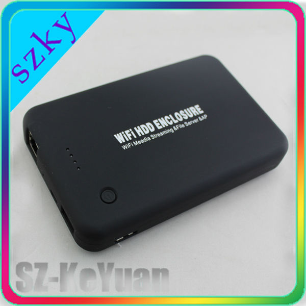 "2.5"" Portable Router with Wireless Hard Drive Case"