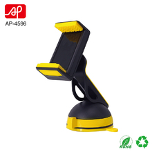 Car dashboard and windshiled dual working way mobile phone mount with antislip rotatable clamp
