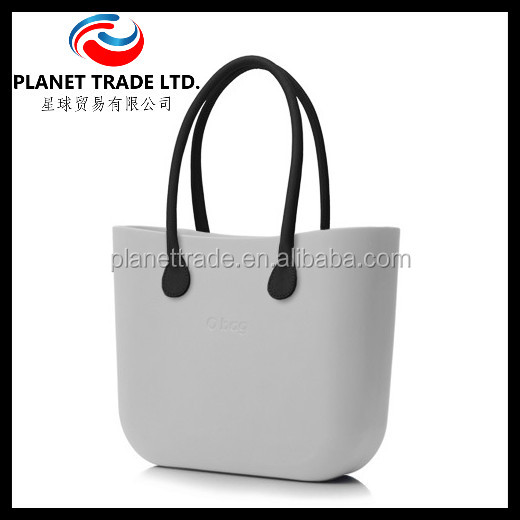 Large Waterproof Silicone Tote Bag Rope Handle Weekend Sun Beach Handbag