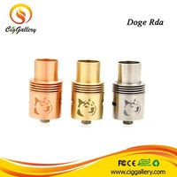 2014 Ciggallery New Arrival Doge v2 Atomizer 3 Post Dual Coil Airflow Adjustable Doge RDA