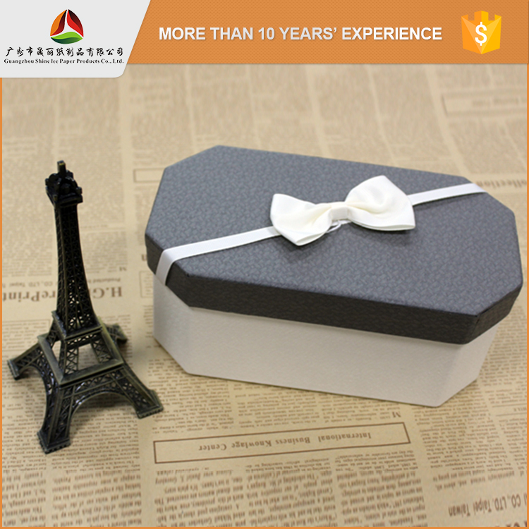 Hot sale various shape custom polygon luxury recycle 2 color paper gift box