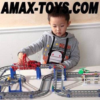 tra-021309 electric track car assembling track car toys