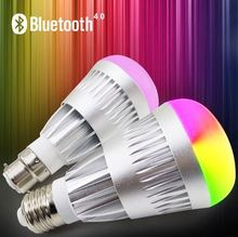 New Wireless Bluetooth 4.0 Speaker Smart LED Night Light Bulb Audio Music RGB Lamp Smartphone Free APP Controlled