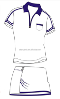 custom professional design sublimation tennis clothes/badminton wear for women