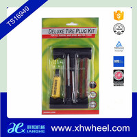 Vehicle Car Motorcycle Tubeless Tyre Puncture Repair Plug Tool Kit