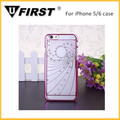 PC case with diamond for iphone 5/6 wholesale factory price
