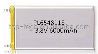 6548118 3.8V lithium battery high voltage li polymer battery 6000mAh