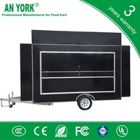 FV-55 best commercial gas range grill food trailer electric smoke free grill food trailer smoked grill food trailer
