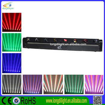 Cheaper Home party disco light led bar moving 8x10w beam wash moving bar
