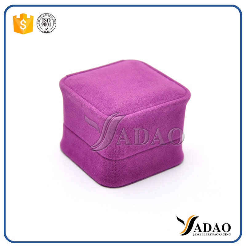 round corner plastic packaging jewelry box for sale purple color