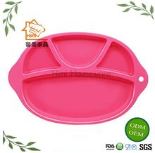 HIMI Safe Mini Feeding Placemat For Toddler Kids Infant Plate Silicone Baby with Strong Suction