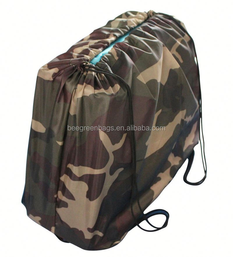 Eco 210D Polyester camouflage cinch bag