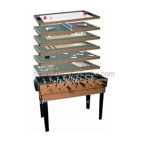 Factory cheap promotion price 4ft 9 in 1 multi game table