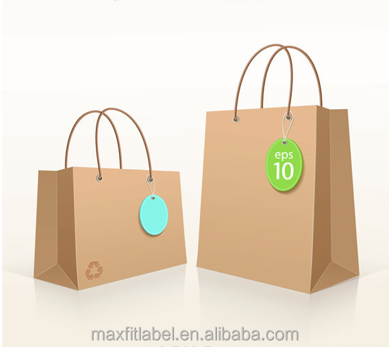 Custom Shopping and Gift Printed Kraft Brown Paper Bag