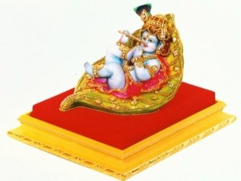 Bal Krishna On Leaf