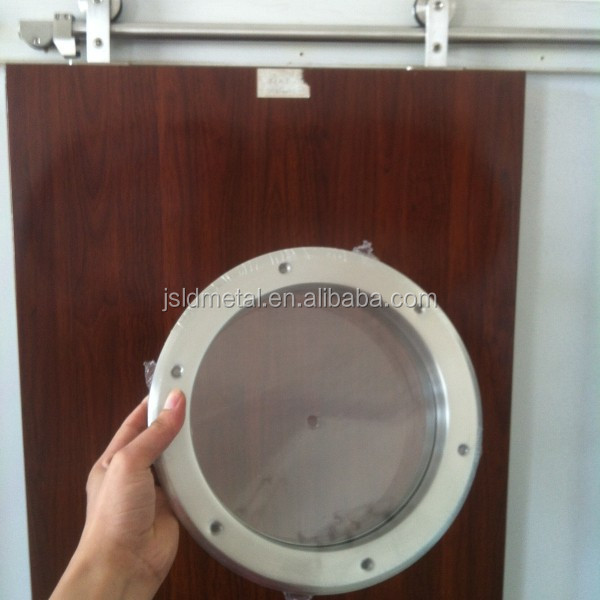 Beveled Round Steel Vision Lite Window Frame For Commercial Doors, Face Screw Visible,O.Diameter:260mm, 350mm,390mm,