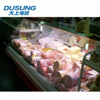 High quality supermarket fresh meat refrigerated display showcase