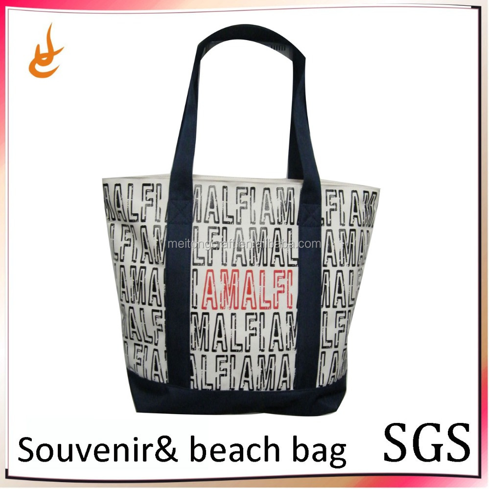 wholesale 600D POLYESTER custom made e italian souvenir shopping bag