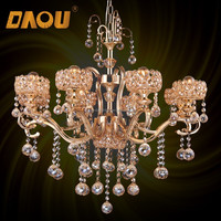 Hot sale Dubai style living room house hotel iron candle crystal chandelier