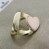 2015 latest design new arrival finger rings with heart shape for girls