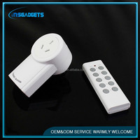 TSJ0001 Auto-Programmable Function Wireless Remote Control Outlet Light Switch with 2 Remotes plug