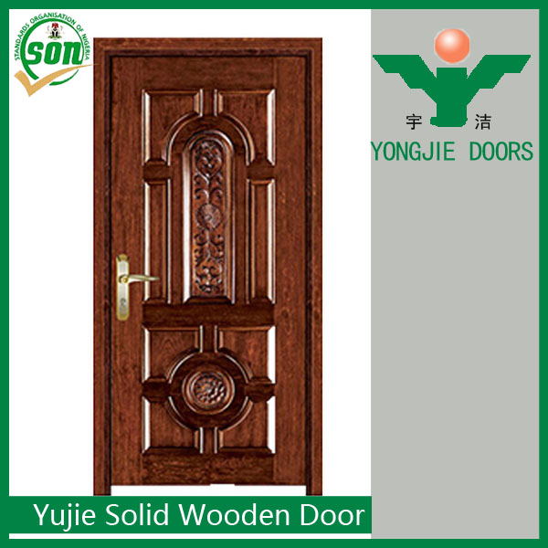 Latest hot sale model design catalogue solid wooden door for Wood door design catalogue