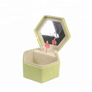 China supplier leather hexagon shaped music box