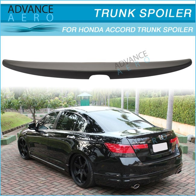 ABS REAR DECK TRUNK SPOILER WINGS FOR 08 09 10 11 HONDA ACCORD 4DR