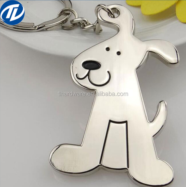 New Mini Dog Keychain Metal Versatile Keyrings Animal Stainless Steel Car hold Bone charm key chains For men women Jewelry