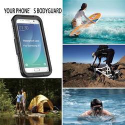 Water Dirt Shock Proof Clear PC Silicon Hybrid Waterproof Swimming Dive Case IP68 Phone Accessories for Samsung Galaxy S7 S7 edg