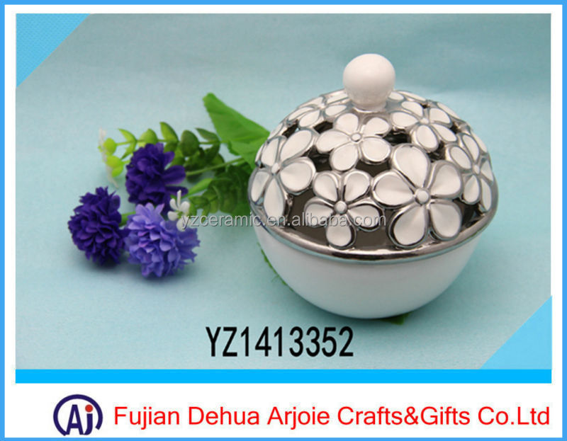 Ceramic Plate Electroplating Fruit Plate Porcelain Plate