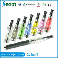 electronic cigarette ce4 clearomizer dual & single coil atomizer with longger wicks ,factory price