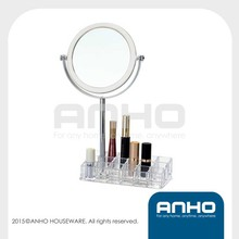 Beautify Clear Cosmetic Makeup Organizer with Two-Sided Mirror Acrylic