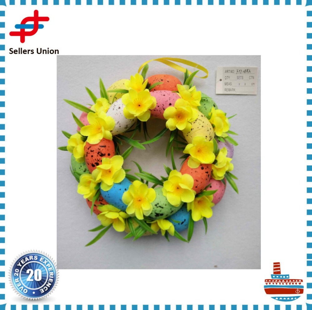 Artificial Spring flower wall wreath easter door wreath for sale