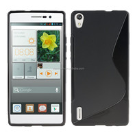 New arrival S line Tpu case for Huawei Ascend p7