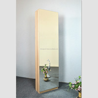Space saving tall shoe cabinet with big mirror