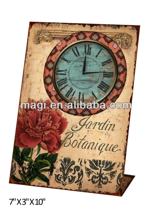 Metal Antique Standing Clock For Decoration