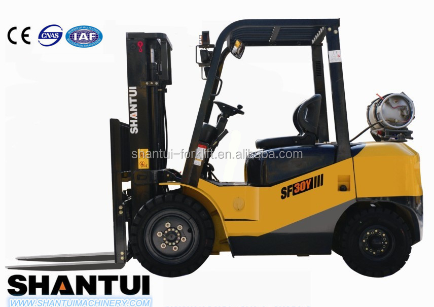Japanese LPG Nissan engine,3ton LPG forklift truck,new forklift price in good condition