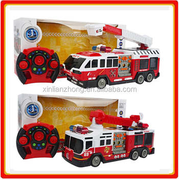 Ebay factory hot selling  kids rc Rescue fire truck toys