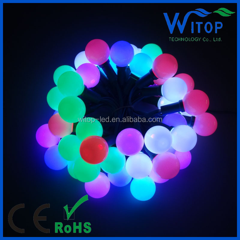 IP68 waterproof 0.6w G40punching hole led permanent christmas string light for holiday