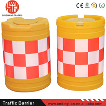 DINGTIAN01 temporary fence expandable reflective traffic safety rolling barrier
