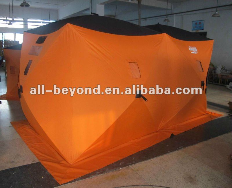 6x12 600D heavy duty pop up ice fishing shelter