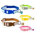 Whosale Cheap Stripe Nylon Collars For Dog